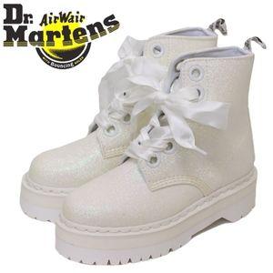 Dr. Martens MOLLY White Glitter Platform Boot